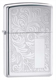 Zippo Venetian® High Polish Chrome, латунь/сталь, серебистая, 36x12x56 мм