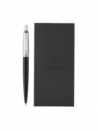 Ручка шариковая Parker Jotter Bond Street Black CT + блокнот